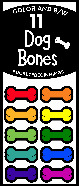 Rainbow Dog Bones Clip Art | Clip Art for Teachers ...