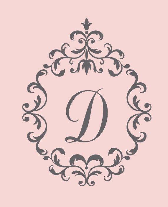 Posh Baby | Nursery Decals | Single Initial Decal | Monogram Nursery ...
