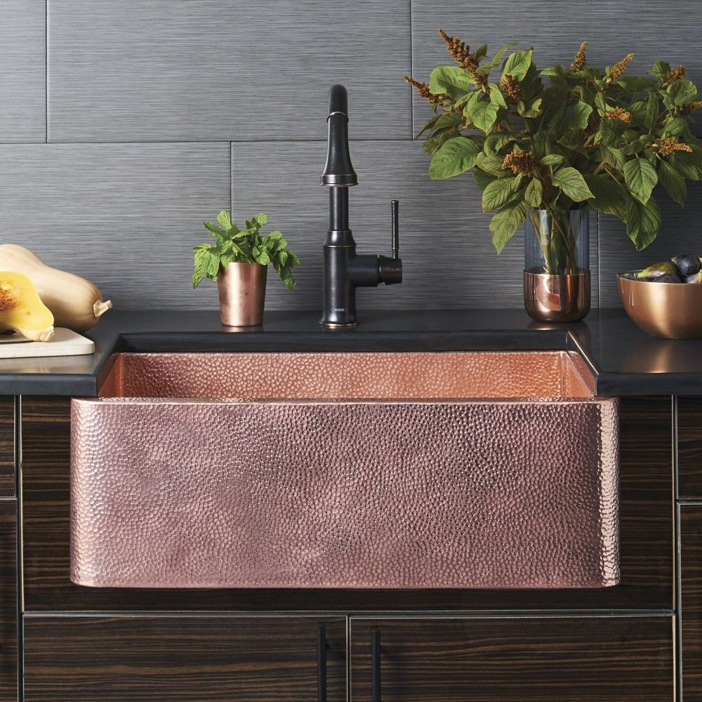 Farmhouse 30 Copper Apron Front Sink Kitchen Copper Kitchen