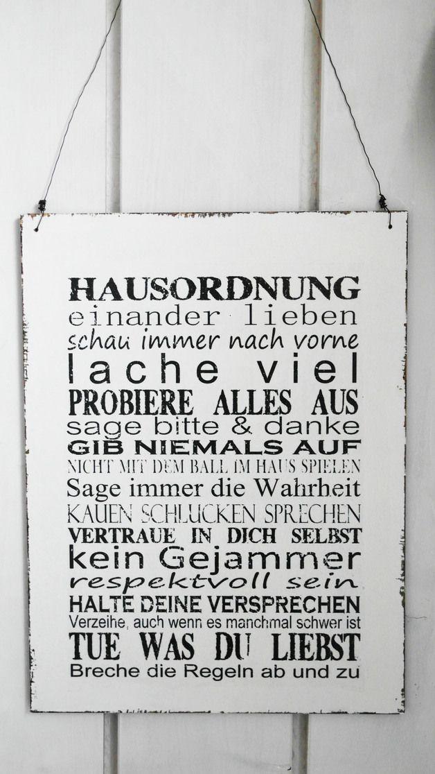 Tur Namensschilder Xxl 30x40cm Shabby Vintage Schild