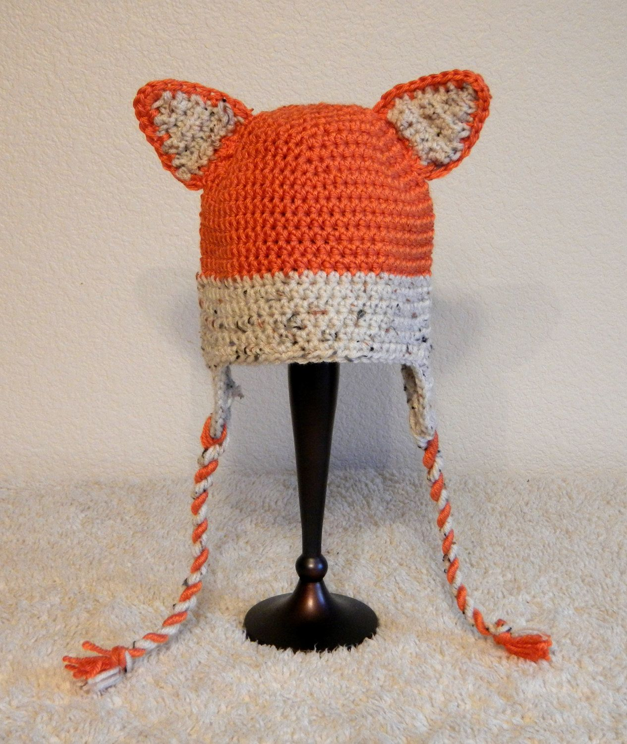 f85346d0ad4 fox baby hat. im learning how to knit and crochet for this reason Crochet  Fox