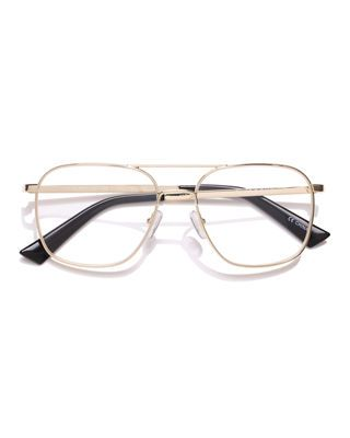 752d18c9fd54 The Book Club Bored Of The Flings Blue Block Metal Aviator Reading Glasses  The Book Club