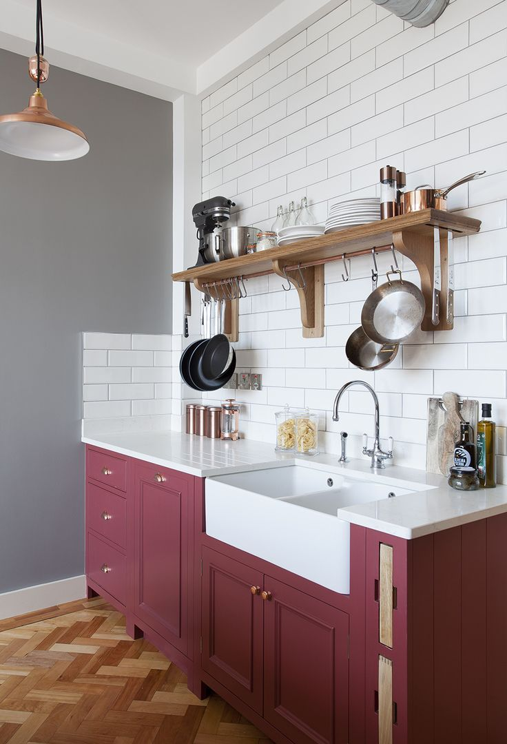 Unusual Kitchen Cabinet Colors That Just Work Red Kitchen