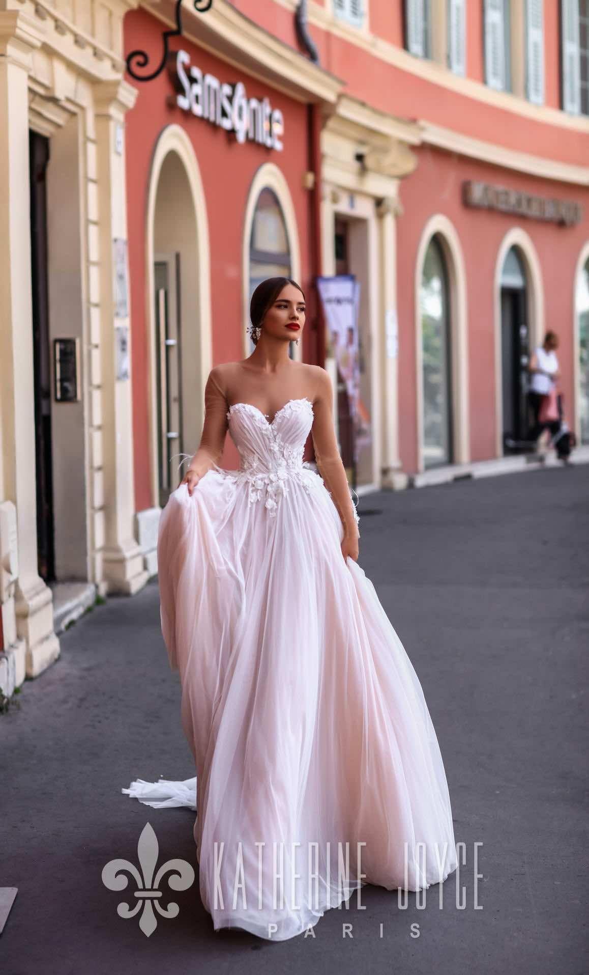 Romantic katherine joyce wedding dresses with modern elegance