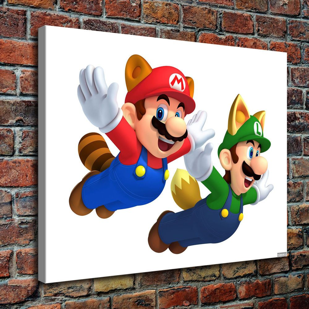 Sr100251 Super Mario Bros Home Decor Hd Canvas Print Picture Wall Art Painting Santarona Artdeco Canvas Prints Wall Art Painting Mario