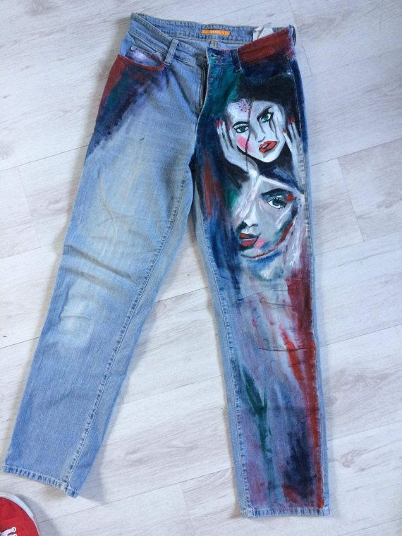 painted jeans diy