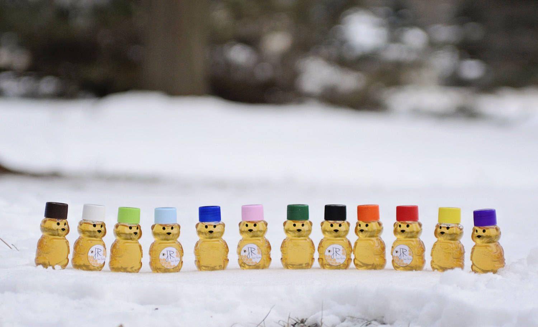 Lot of 20 2oz Mini Honey Bears, Wedding Favor, Baby Shower Favors ...