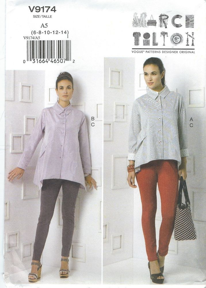 Vogue 9174 Misses\' Shirt and Pants Sewing Pattern | Sewing patterns ...