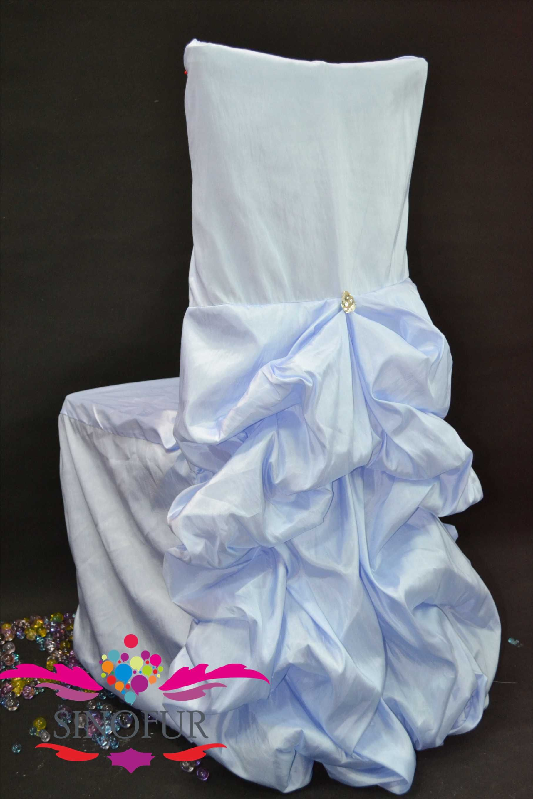 Baby Blue/round Back/banquet Chair Cover For Sale Buy