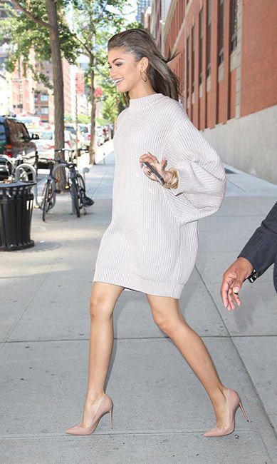 dc61157a5c6 Comment porter la robe pull     Avec des escarpins