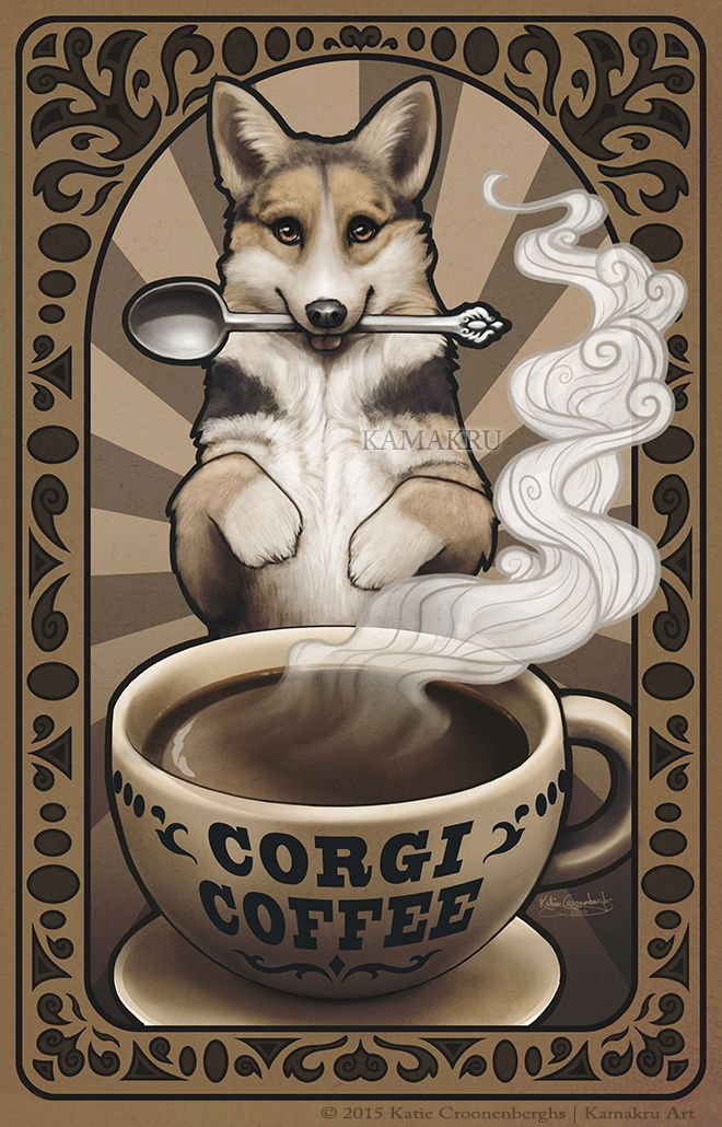 corgi coffee by kamakru on deviantart coffee pinterest corgi