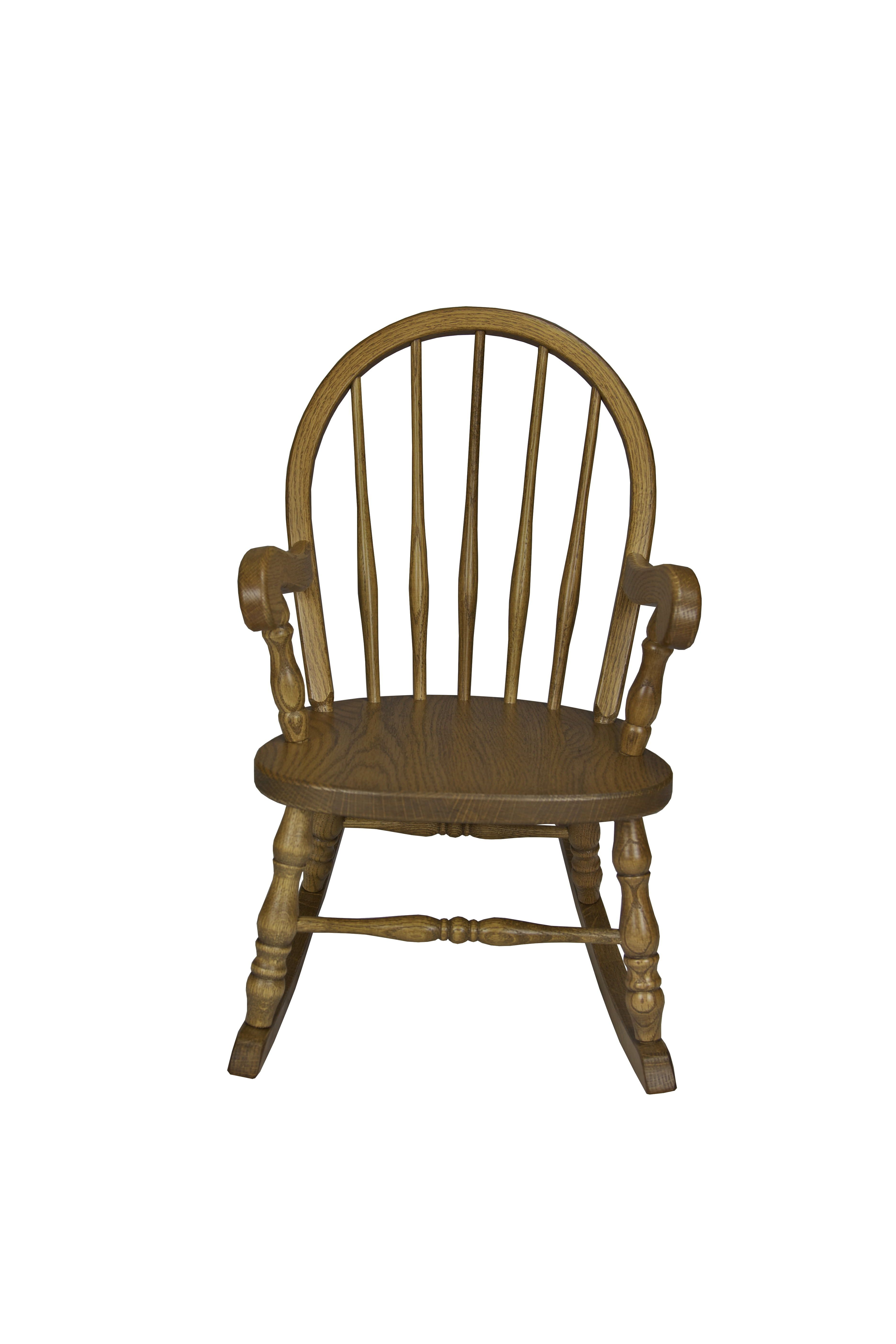 Child S Bow Back Rocker Carefree Children Amish Furniture