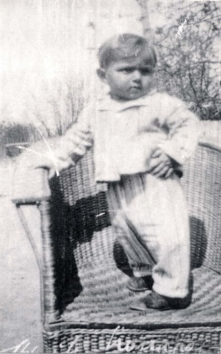 SS-Unterschrfuehrer, Josef Weisl, in SS uniform at a location for ...