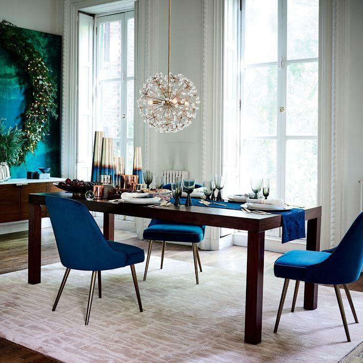 Mid Century Upholstered Dining Chair Velvet Velvet Dining