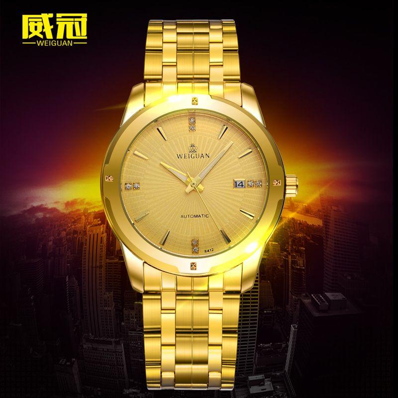 05044f72caf Top Marca de Moda de Luxo Relógios homens de Ouro Relógio de Quartzo  Ocasional Vestido Hora