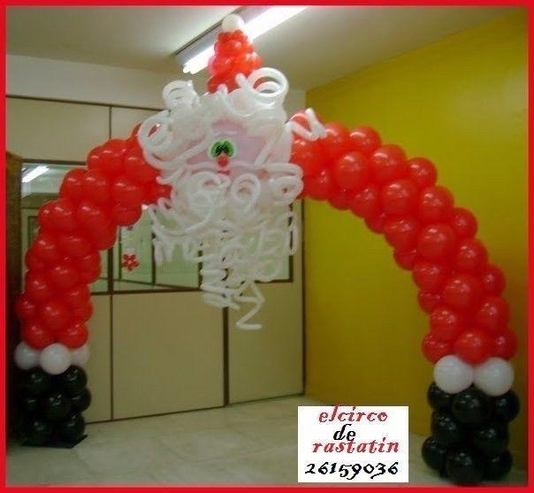 Resultado de imagen para decoracion de navidad con globos sandy zaldivar pinterest - Decoracion fiesta navidad ...