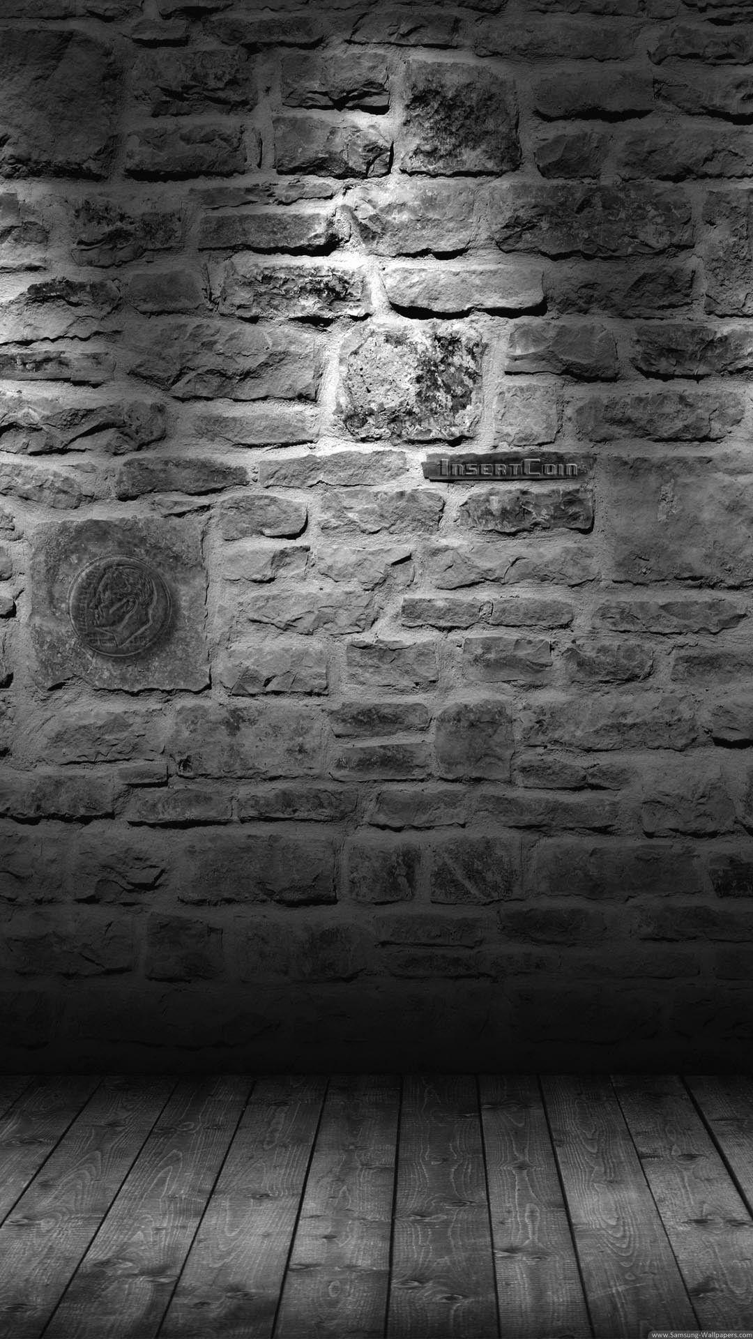 Dark Brick Wall 4K HD Android and iPhone Wallpaper