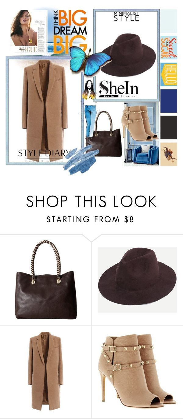 """Shein hat"" by irinavsl ❤ liked on Polyvore featuring Cole Haan and Valentino"
