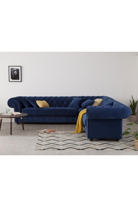 Branagh Corner Sofa Electric Blue Velvet In 2020 Corner Sofa Velvet Corner Sofa Sofa