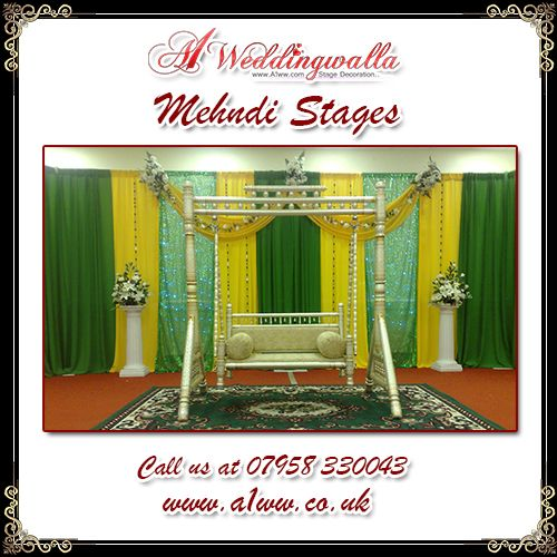 A1 Weddingwalla presents decorative Mehndi Stage Decoration service in UK. For booking call us at 07958 330043. #MehndiStage #stageDecoration #AsianWedding #decoration