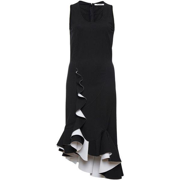 Stretch Heavy Crepe Dress Moda Operandi 2 545 Liked On Polyvore Featuring Dresses Stretch Dresses Scoop Neckline Dress Scoop Neck Dress Givenchy Dress