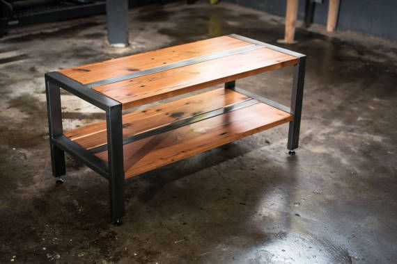 reclaimed redwood softwood tv stand bench or coffee table