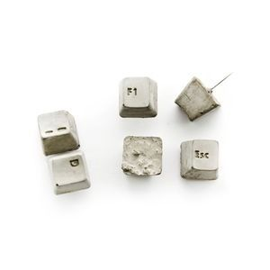 Concrete Keyboard Push Pin Set Of Six