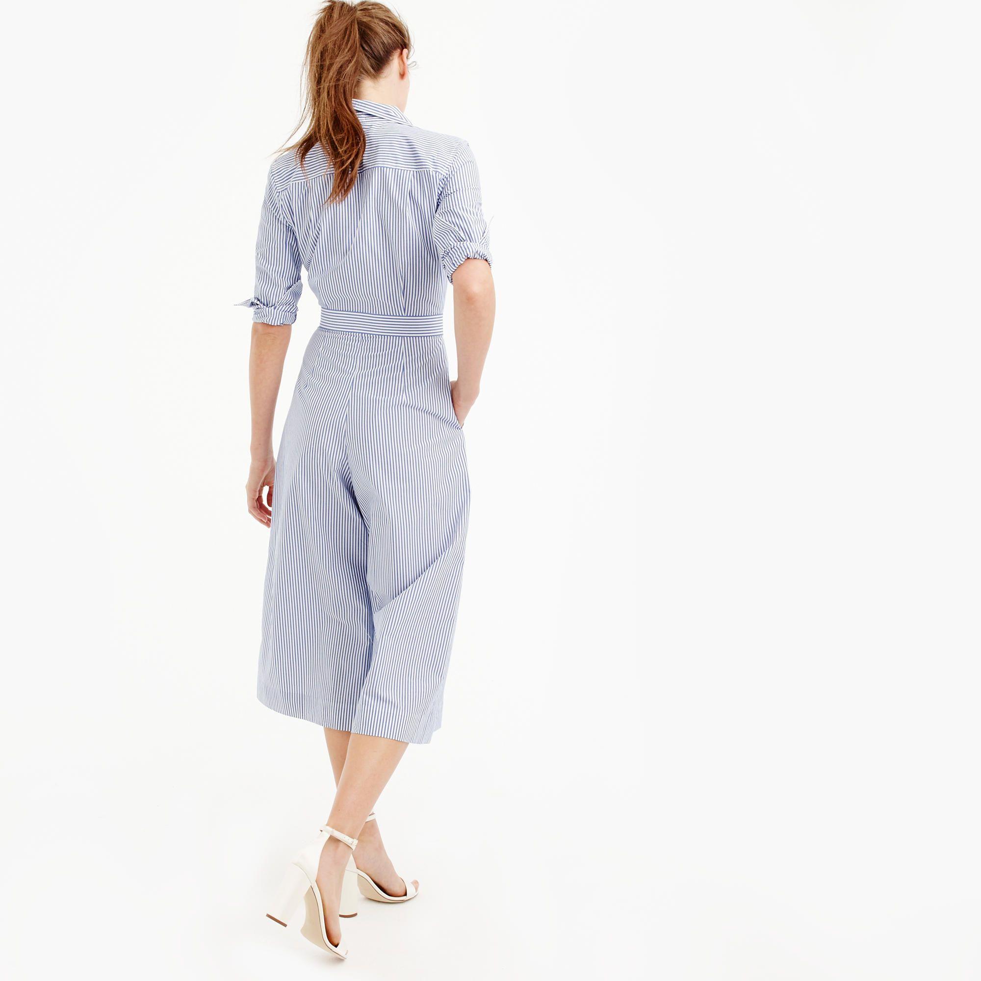 b449c7290689 JCrew Wide-leg jumpsuit in shirting stripe item G1268 2017