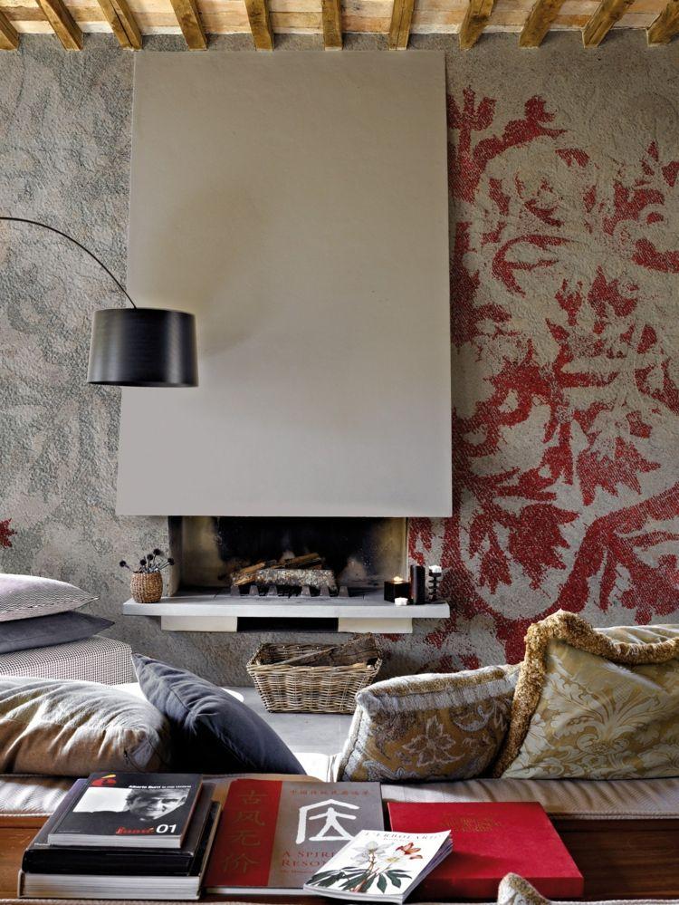 Tapete im Wohnzimmer von Inkiostro Bianco \u2013 50 attraktive Modelle - tapete für wohnzimmer