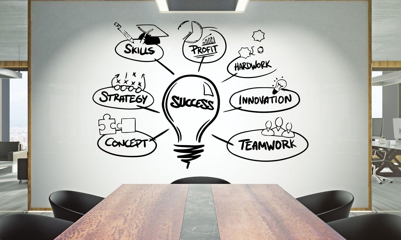 Office Wall Decal Teamwork Citation Wall Sticker Office Decor