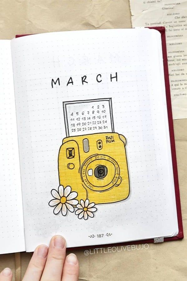 Bullet Journal Monthly Cover Ideas For March 2020