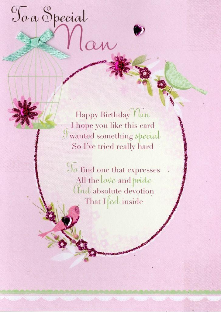 Special Nan Birthday Card