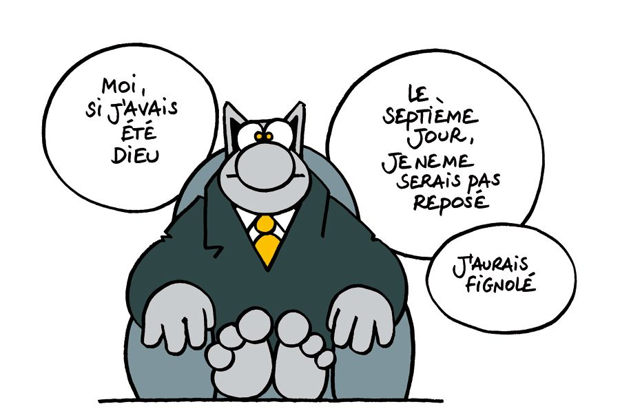 Philippe geluck le chat dessin dessins du mois - Dessin de chat rigolo ...