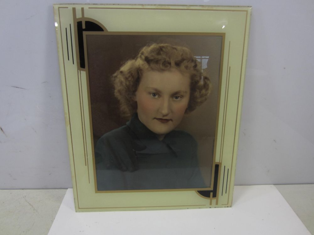 Vintage Art Deco Glass Picture Frame Artdeco Glass