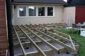 bygga trädäck plintar