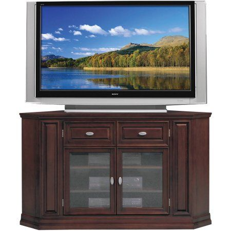 Leick Home Chocolate Cherry 36 Inchh 62 Inch Corner Tv Stand Red