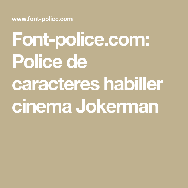 jokerman police