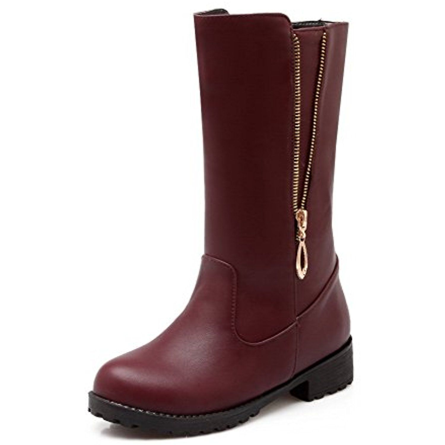 Women's Low Heels Low Top Solid Pull On Boots