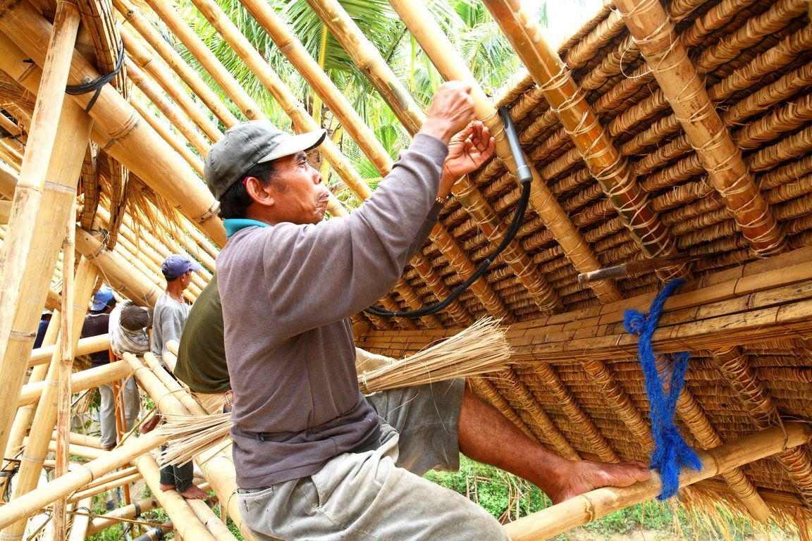 Bamboo Roof Construction Bing Images Green Acres
