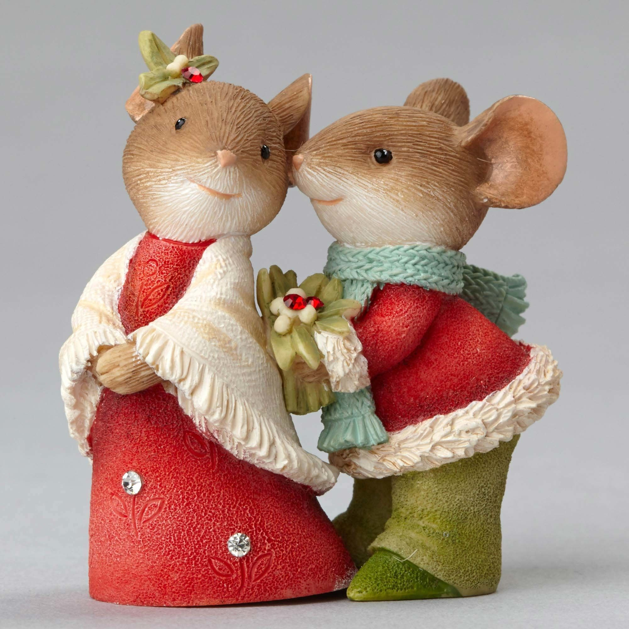 Christmas mice couple with holly mice couples and clay christmas mice couple with holly spiritdancerdesigns Choice Image