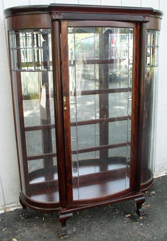 custom curved and bent glass for antique china cabinets and curio