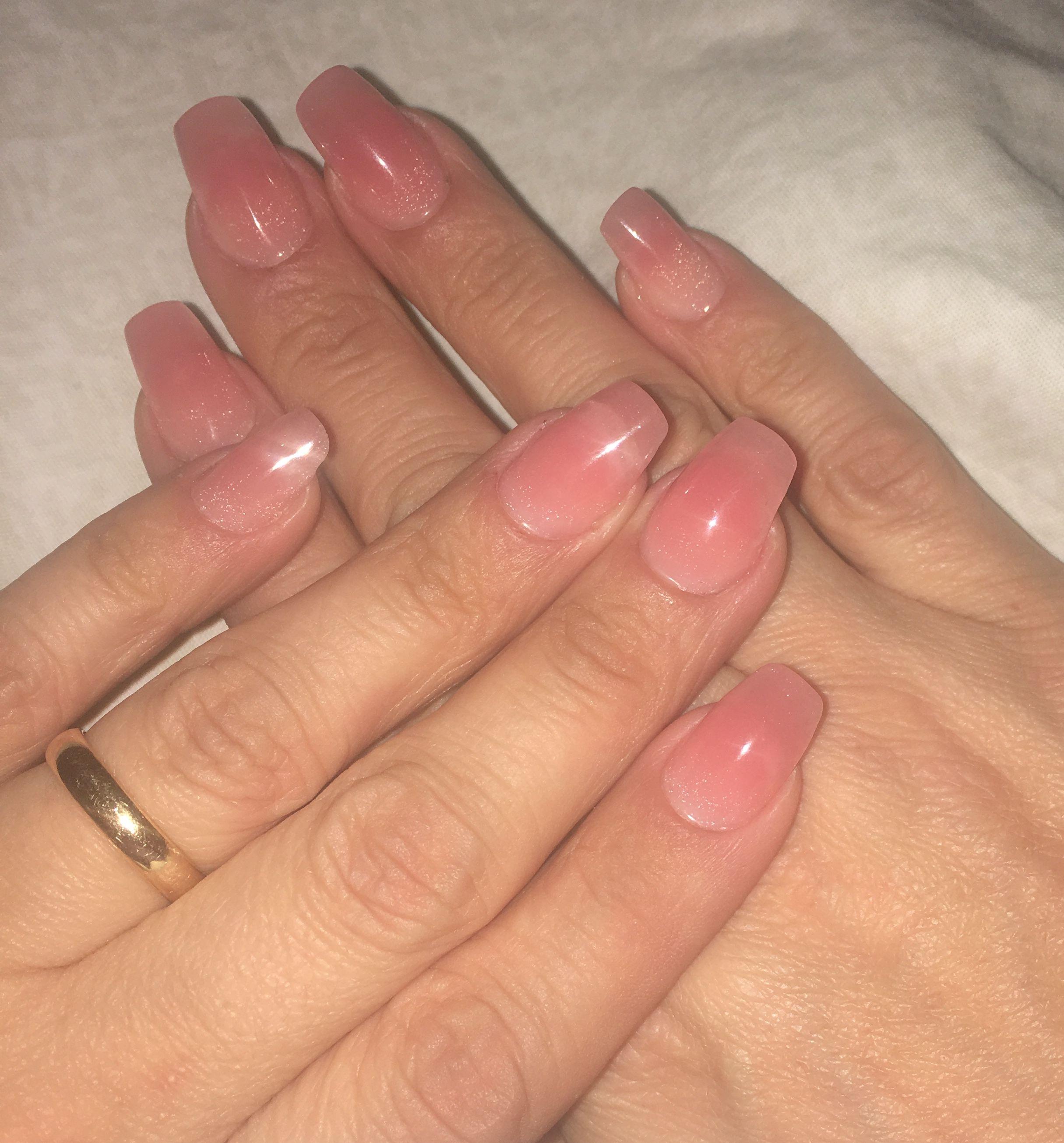 Natural Pink Poly Gel Nails Polygel Nails Gel Nails Nails