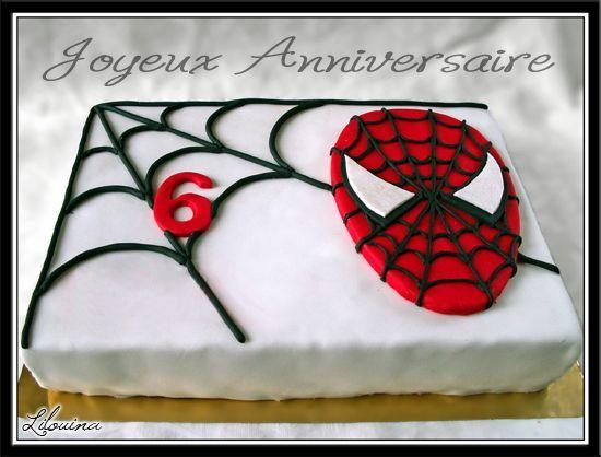 decoration gateau anniversaire garcon spiderman