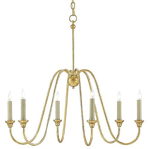 The Currey & Company Orion Chandelier illuminates spaces modern or classic. The arms that support the six