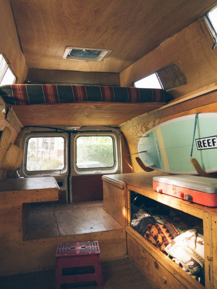 Diy van conversion with loft bed vanlife pinterest for Rv loft bed