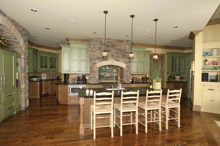Contemporary Craftsman House Design With Country Style Interior