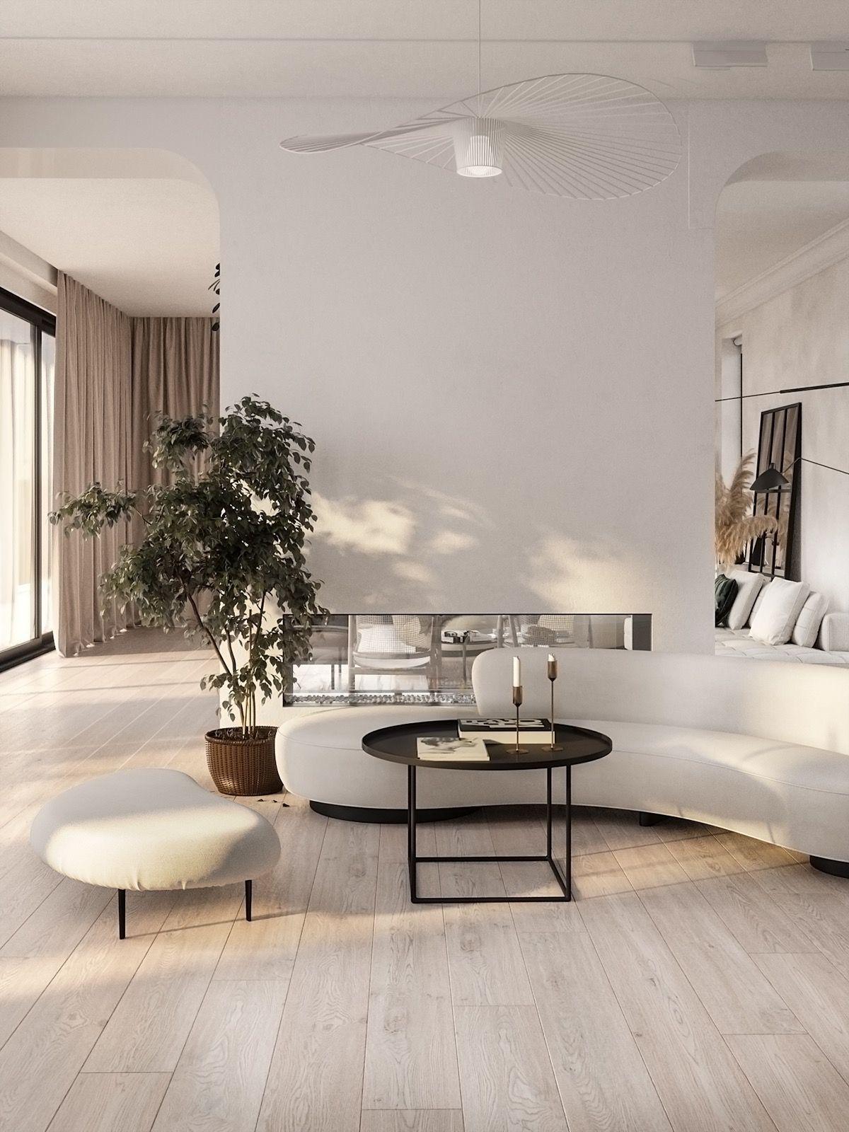 Modern Mediterranean Style Interior Design Mediterranean Styles Interior Minimalist Living Room Interior Design Living Room