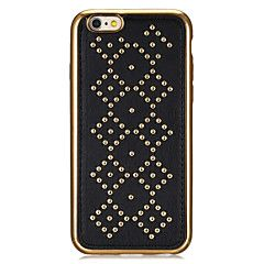 "Rivet+Leather+Series+Diamond+Pattern+Gold+Plating+Golden+Round-Dots+Soft+TPU+Case+for+Iphone6Plus/6SPlus+5.5""+–+USD+$+10.99"