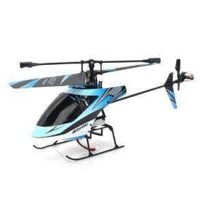 Blue Outdoor Single Blade 2 4g 4ch Micro Gyro Rc