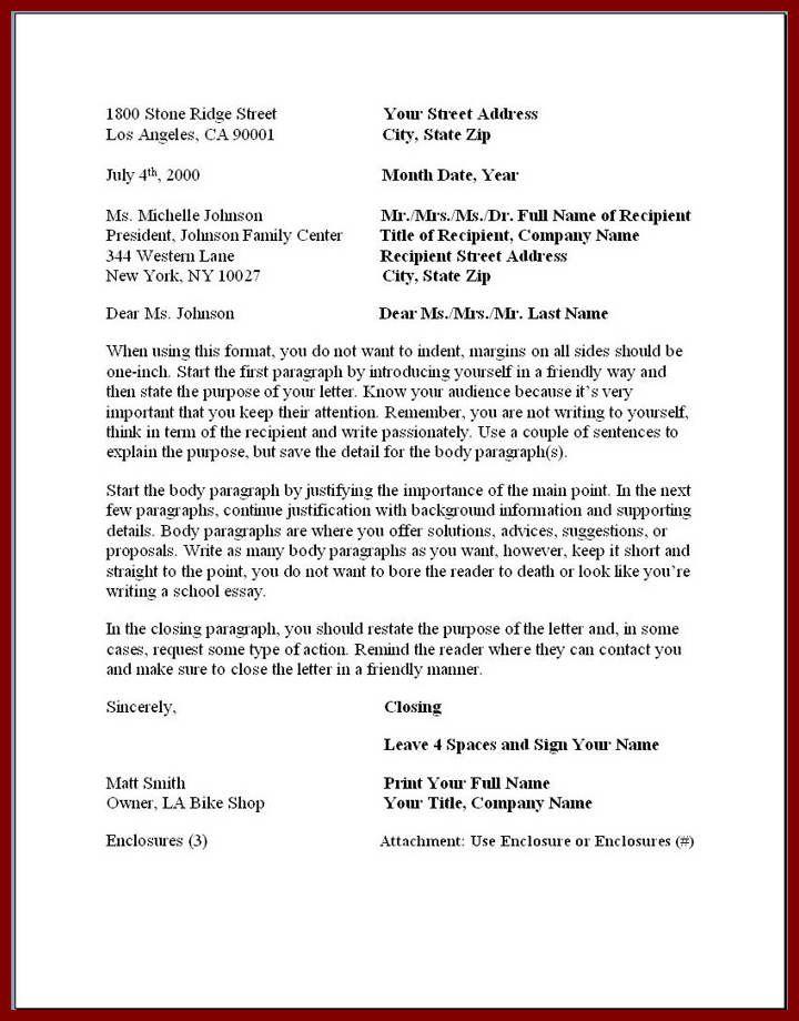 Official Business Letter Format Full Block Letterg Content Uploads